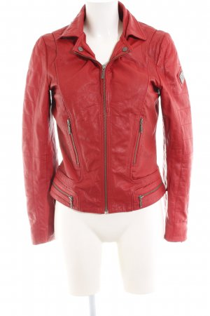 Cigno Nero Leather Jacket red casual look