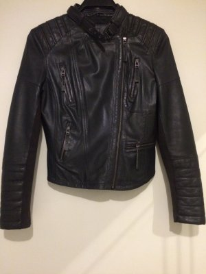 Cigno Nero Leather Jacket dark grey-anthracite leather