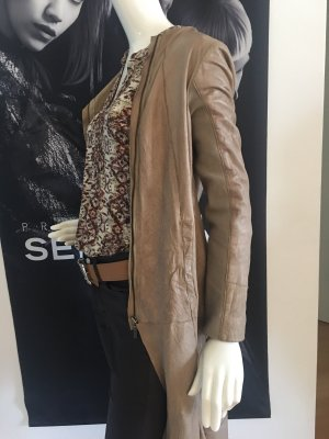 Cigno Nero Ledermantel Hose gewachst in Leder Look best Connection blusen Shirt SMALL