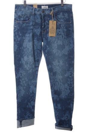 Cimarron Boot Cut Jeans blau florales Muster Casual-Look