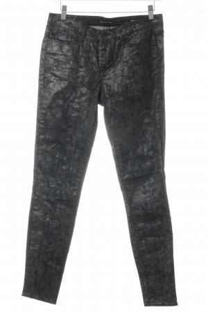 Cimarron Pantalone a vita alta nero-grigio Motivo schizzi di pittura