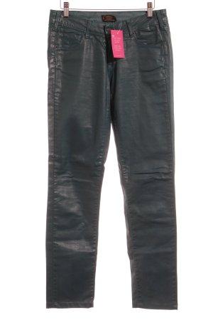 Cimarron Pantalone a vita bassa blu cadetto effetto bagnato