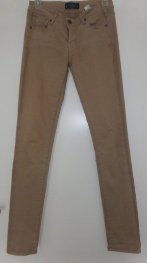 Stretch Jeans sand brown cotton