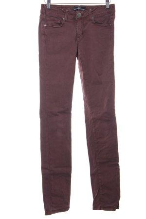 Cimarron Pantalone a sigaretta marrone-rosso stile casual