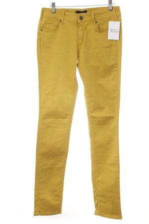 Cimarron Jeans a sigaretta giallo-oro stile casual