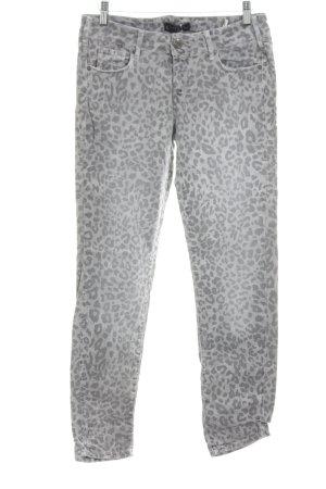 Cimarron Skinny Jeans light grey leopard pattern casual look