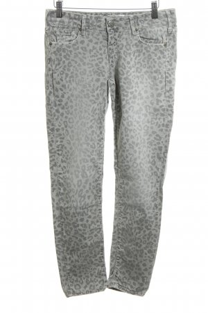 Cimarron Skinny Jeans light grey-silver-colored animal pattern casual look