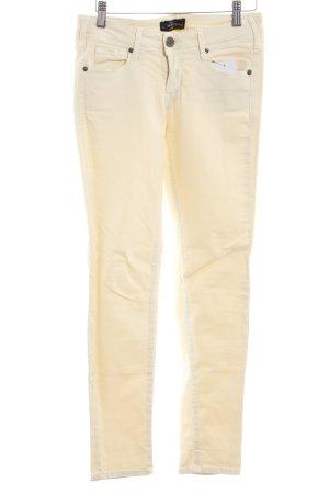 Cimarron Skinny Jeans hellgelb Casual-Look