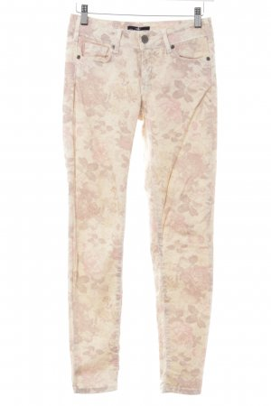 Cimarron Jeans skinny giallo chiaro-rosa stampa integrale Stile Boho