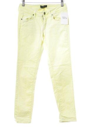"""Cimarron Jeans skinny """"Jackie Cropped"""" giallo neon"""