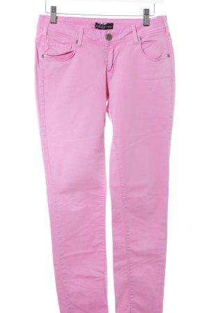 Cimarron Slim Jeans pink Logo-Applikation aus Leder