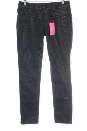 Cimarron Slim Jeans schwarz Metallic-Optik