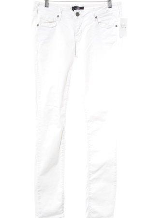 Cimarron Jeans slim fit bianco stile da moda di strada
