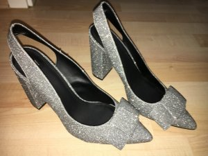 H&M Shoes silver-colored