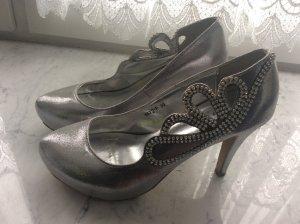 Cinderellaschuhe in Silber und in 39