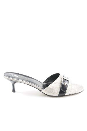 Cinque Heel Pantolettes black-light grey business style