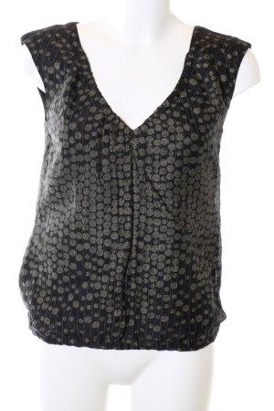 Cinque ärmellose Bluse schwarz abstraktes Muster Casual-Look