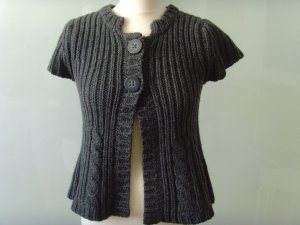 Cinque Short Sleeve Knitted Jacket anthracite new wool