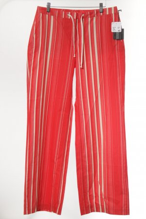 Cinque Pantalon rood-room gestreept patroon extravagante stijl
