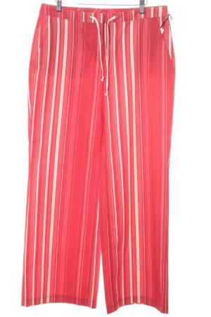 Cinque Anzughose rot-creme Streifenmuster extravaganter Stil