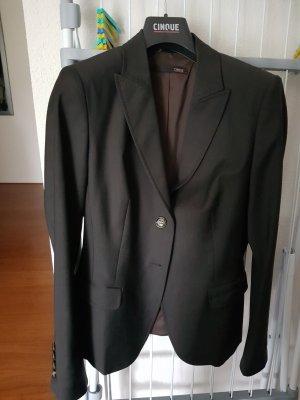 Cinque Blazer long brun noir polyester