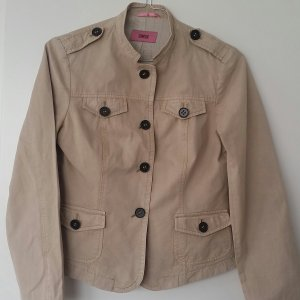 Cinque Denim Blazer sand brown cotton