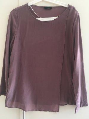 Cinque Blusa in seta malva-grigio-lilla