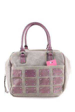 Cinque Bolso de bolos gris claro-rosa elegante