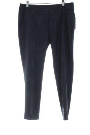 Cinque Pantalon à pinces bleu foncé-blanc rayure fine style d'affaires