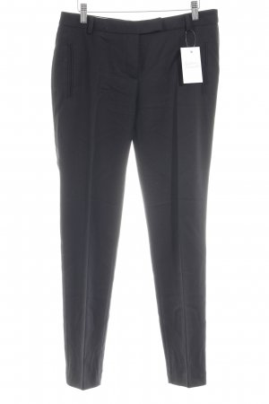 Cinque Pleated Trousers black weave pattern business style