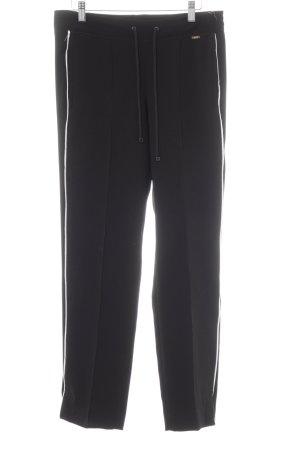Cinque Pantalone a pieghe nero-bianco stile atletico