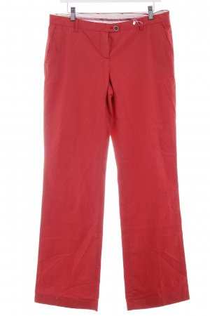 Cinque Chinohose rot-hellrot Streifenmuster Casual-Look