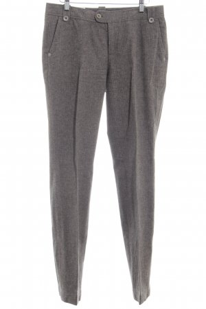 Cinque Chinos taupe-grey brown zigzag pattern business style