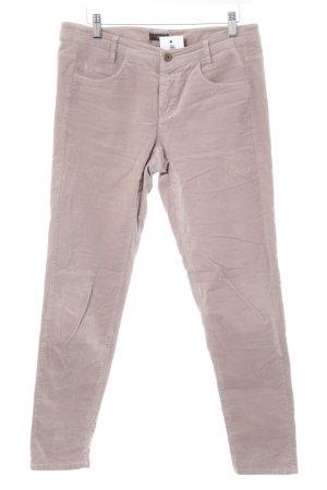 Cinque Pantalone di velluto a coste malva stile semplice