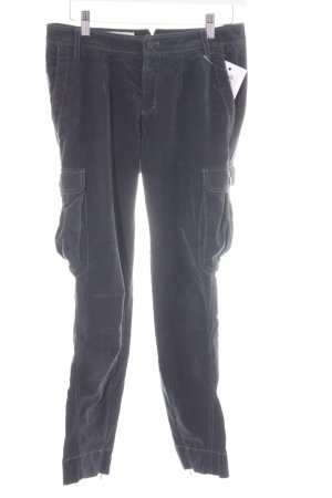 Cinque Pantalone di velluto a coste blu scuro stile casual