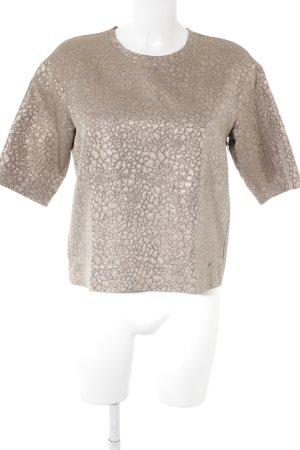 Cinque Cropped Shirt roségoldfarben Animalmuster Elegant
