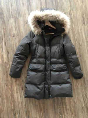 Cinque Manteau en duvet brun foncé
