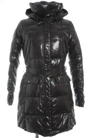 Cinque Manteau en duvet noir style mouillé