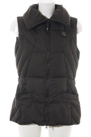 Cinque Donsvest zwart quilten patroon straat-mode uitstraling