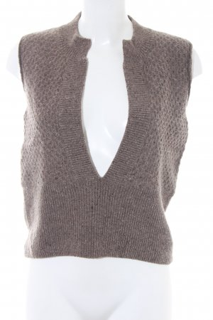 Cinque Fine Knitted Cardigan light brown flecked casual look