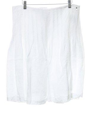 Cinque Falda acampanada blanco look casual