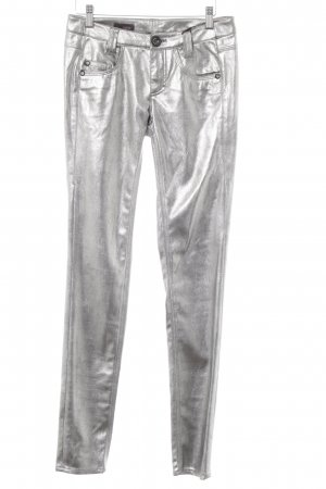 Cinque High-Waist Hose silberfarben Metallic-Optik