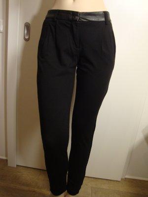 Cinque Pantalon à pinces noir tissu mixte