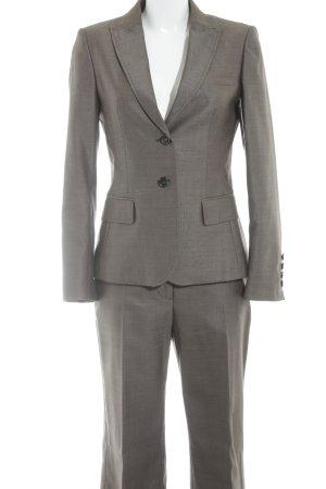 Cinque Tailleur pantalone marrone-grigio-nero motivo a quadri