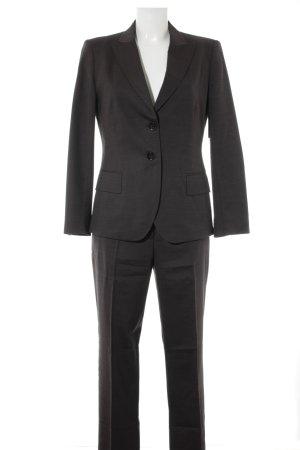 Cinque Tailleur-pantalon noir-gris Motif de tissage style décontracté