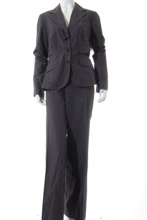 Cinque Tailleur-pantalon blanc-bleu foncé rayure fine style d'affaires