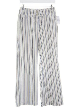 Cinque Pantalone a vita bassa motivo a righe stile stravagante