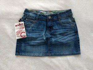 Cinque Jeans Mini Rock destroyed Ibiza mit Spitze S 36 34