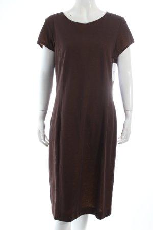 Cinque Jerseykleid braun-dunkelgelb Casual-Look