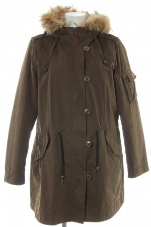 Cinque Hooded Coat grey brown-cream boyfriend style